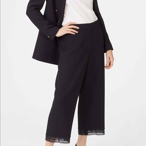 $189 Club Monaco Prudeen Pant Cropped Lace Hem 6